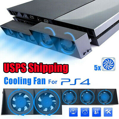 5 Fan For PS4 Game Accessories Play Station4 Host Cooling Fan Cooler External