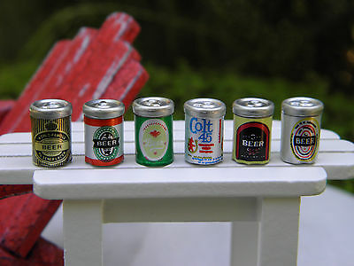 Miniature Dollhouse FAIRY GARDEN Accessories  6 Assorted Cans of Beer  NEW