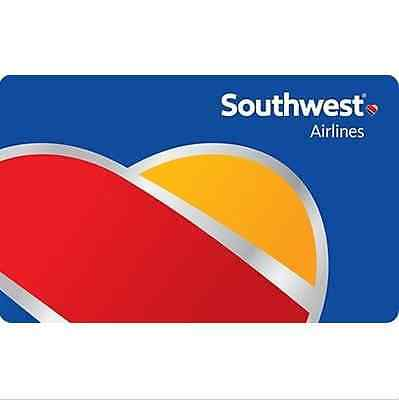 Southwest Airlines Gift Card - 25 50 100 or 200 - Email delivery