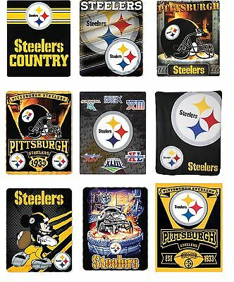 NFL Licensed Pittsburgh Steelers 50x60 Fleece Throw Blanket Multiple Styles