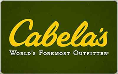 Cabelas Gift Card - 25 50 100 - Email delivery