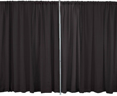 6 FOOT HIGH x 5 FOOT WIDE PREMIUM DRAPE CURTAIN FOR PIPE AND DRAPE DISPLAYS