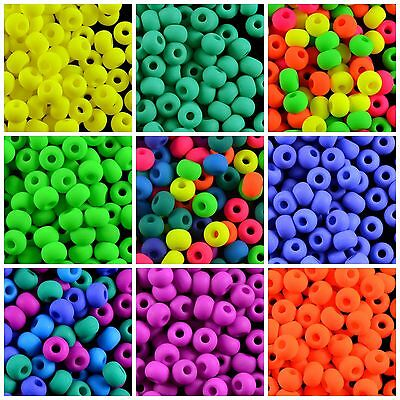 CHOOSE COLOR 40pcs 5-5mm NEON Pony Beads UV Active Czech Pressed Glass