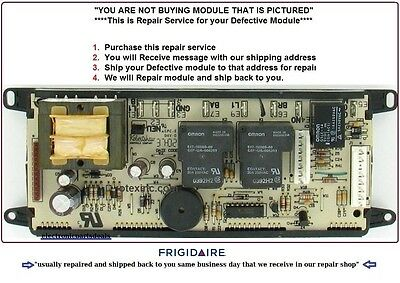 318010900 Repair Service Frigidaire Oven Control Board 1 DAY TURNAROUND TIME