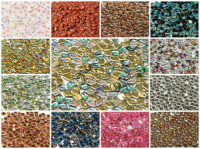 CHOOSE COLOR 8g cca 230pcs 1-5x5mm Dragon® Scale Beads Czech Pressed Glass