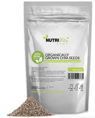 6 LBS ORGANIC GROWN 100 PURE PREMIUM BLACK CHIA SEEDS VEGAN GLUTEN-FREE NONGMO