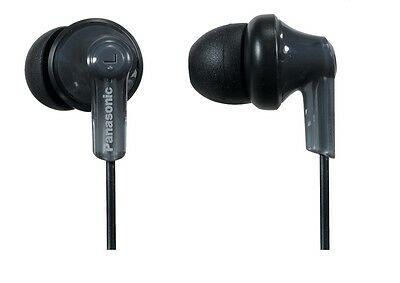 Panasonic RPHJE120K ErgoFit Wired In-Ear Stereo Canal Earbud Headphones Black