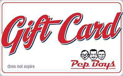 Pep Boys Gift Card 25 50 - Email delivery