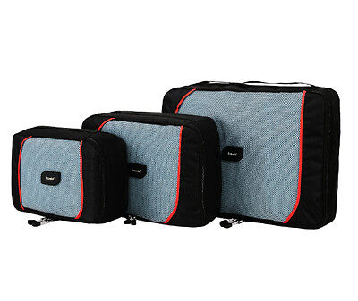 travela  ecubes - SET OF 3 BRAND NEW BLACK  RED PACKING CUBES - FREE SHIPPING