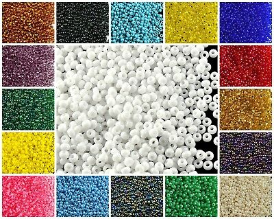 CHOOSE COLOR 20g 100 Seed Beads Rocailles Preciosa Ornela Czech Glass