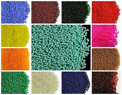 CHOOSE COLOR 20g 130 1-7mm Seed Beads Rocailles Preciosa Ornela Czech Glass