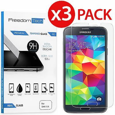 3 PACK PREMIUM ULTRA THIN TEMPERED GLASS SCREEN PROTECTOR FOR SAMSUNG GALAXY S5