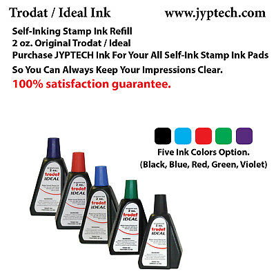 2 oz TrodatIdeal Rubber Stamp Refill Ink For Stamps or Stamp Pads