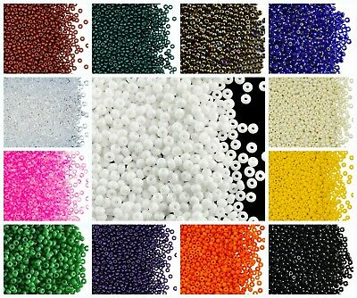 CHOOSE COLOR 20g 90 2-6mm Seed Beads Rocailles Preciosa Ornela Czech Glass