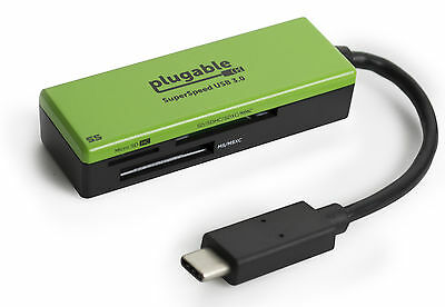 Plugable USB C SD Card Reader - Enable USB-C Laptop to Read SD MMC or MS Cards
