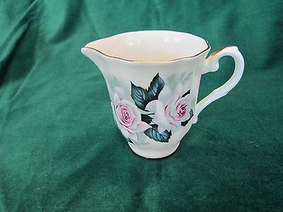 ROYAL GRAFTON ANEMONE CHINA 3 14 CREAMER ELEGANT PINK ROSES