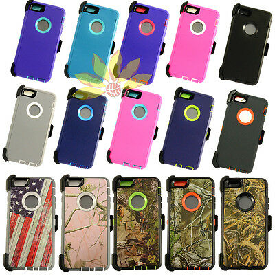 For Apple iPhone 6 Plus 7 8 XR XS Max Shockproof Rugged Case with Belt Clip