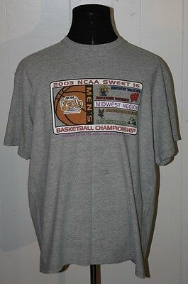Gear for Sport NCAA 2003 Sweet 16 Basketball Pittsburgh Panthers Tee Shirt XL