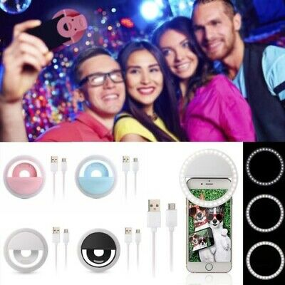 1x Selfie Flash LED Phone Camera Photography Ring Light For iPhone Android Phone