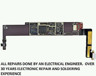 Apple iPad MINI 12 3 digitizer FPC Connector Solder Repair Replacement Service