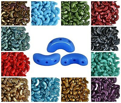 CHOOSE COLOR 25pcs 5x10mm Arcos® par Puca® Beads Czech Pressed Glass