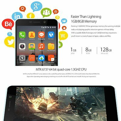 THL T9pro 5-5Inch For Android 6-0 4G Quad Core Mobile Phone US Plug 2 GB Ram ZD