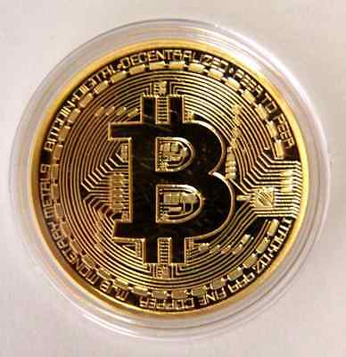 -999 Fine Gold Bitcoin Commemorative Round Collectors Coin - Bit Coin is Gold Pl