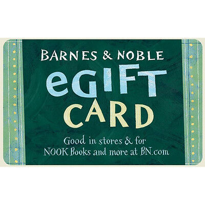Barnes - Noble Gift Card  - 25 50 or 100 - Fast Email delivery