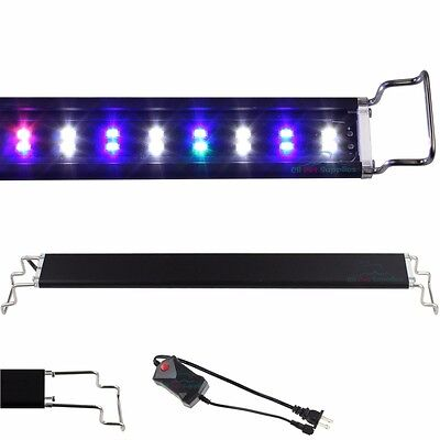 12-48 LED Light Aquarium Fish Tank 0-5W Full Spectrum Plant Marine FOWLR