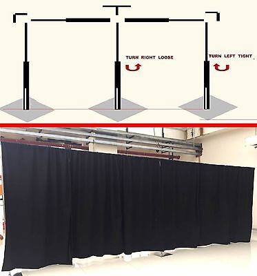 ADJUSTABLE QUICK BACKDROP KIT 10 FT TALL x 10FT-50FT WIDE PIPE WITHOUT DRAPE