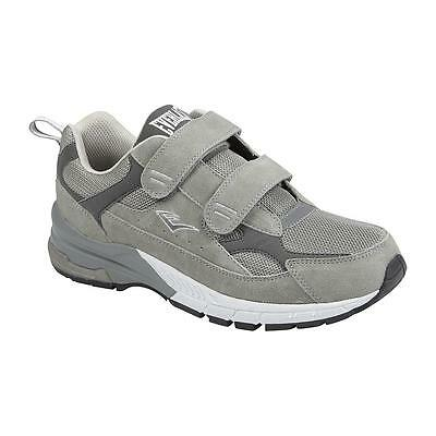 Everlast Sport Mens Athletic Two Strap Shoe Lincoln Wide Width Gray running gym