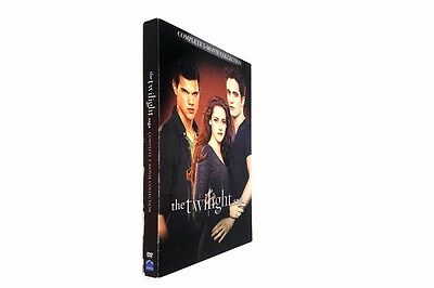The Twilight Saga Complete 5-Movie Collection DVD 2016 2-Disc Set
