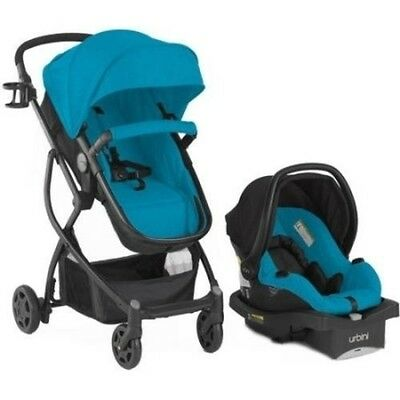 Baby 3in1 Travel System Stroller Car Seat Buggy Bassinet - BLUE