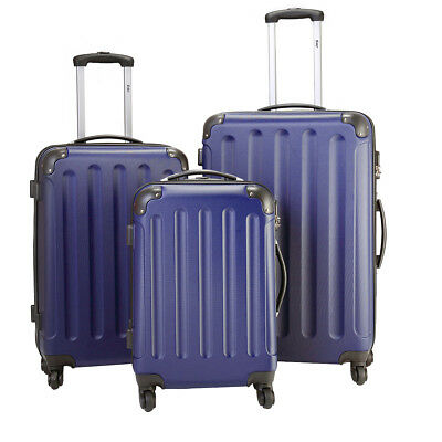 BHC 3PCS Luggage Bag Carry On Set Trolley Suitcase Travel Spinner ABS-PC wCover