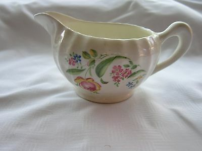 W- S- George Bolero Pink Rose Blue Flowers Green Leaves Pitcher  Creamer