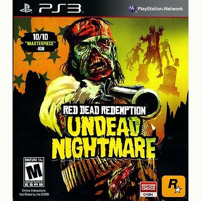 Red Dead Redemption Undead Nightmare PS3 Brand New