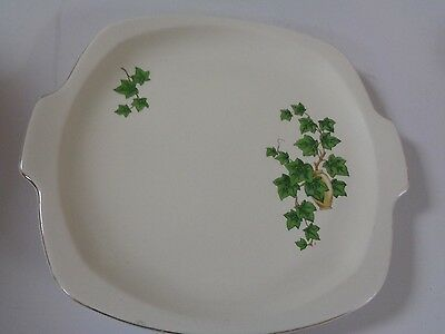 Older Paden City pottery  USA 10 Square Plate Ivy Pattern E-51 with handles