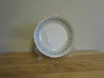 W S George China Radisson 7-12 Coupe Soup Bowl White Yellow Tulip Blue Leaves