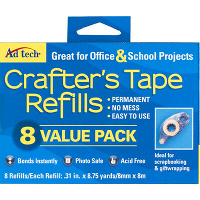 Ad-Tech 05674 Crafters Tape Refills 8Pkg-Value Pack