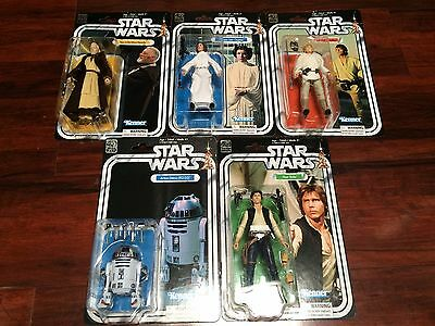 LOT OF 5 NEW 2017 Star Wars 40TH ANNIVERSARY Black Series 6 FIGURES w HAN SOLO