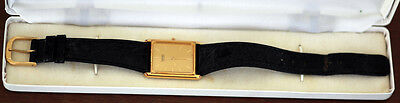 Vintage SEIKO Quartz Mens Dress Wrist Watch with leather band