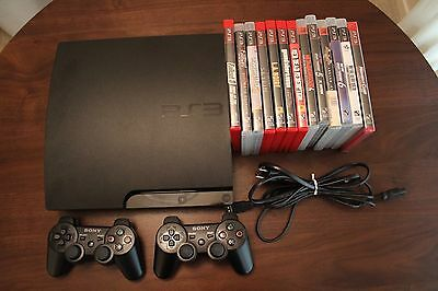 Sony PlayStation 3 Slim160GB Console - 2 Controllers - 13 Games