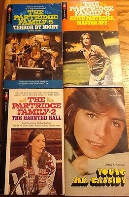Patridge Family paperback books 3 and David Cassidy book 1971