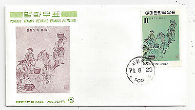 1971 First Day of Issue FDC Cover Fine Art Series Scott 794 - Insert 4 MNH