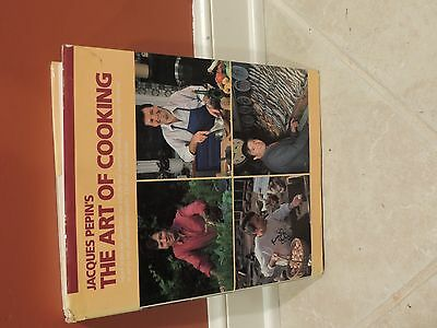 VINTAGE 1987 JACQUES PEPINS THE ART OF COOKING HARDCOVER COOKBOOK