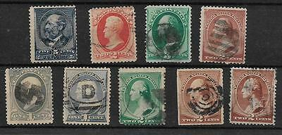 9 OLD STAMPS FROM the 1800s  lot 6