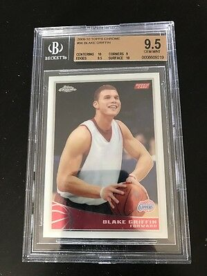 2009-10 Topps Chrome Blake Griffin Rookie Card d 61999 BGS 9-5 Gem Mint RC