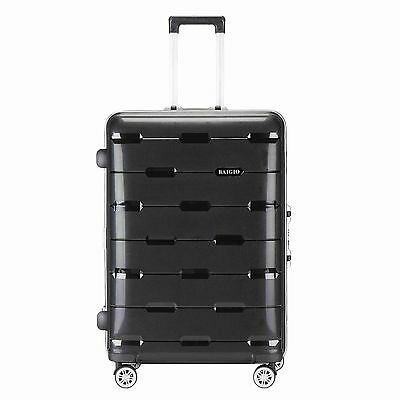 20  Luggage Travel Set Bag ABS Trolley Spinner Carry On Suitcase TSA Lock Black