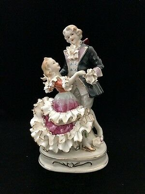 Antique Group Figurine - Dancing Couple - Germany