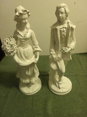 ANTIQUE Figurines of Man and Woman made in Italy